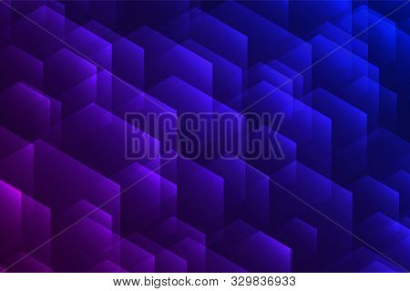 Hexagonal Border With Light Effects. Vector Illustration For Your Party