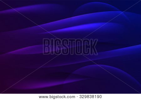 Blue Glowing Retro Neon Waves Background. Vector Smooth Wavy Graphic Design. Eps 10