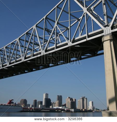 Bridge With New Orleans Skyline