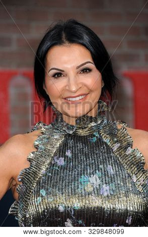 Kathrine Narducci at the Los Angeles premiere of 'The Irishman' held at the TCL Chinese Theatre in Hollywood, USA on October 24, 2019.