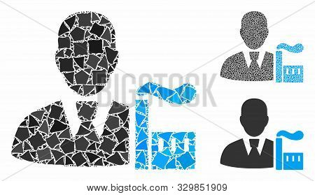 Industry Capitalist Mosaic Of Joggly Pieces In Various Sizes And Shades, Based On Industry Capitalis
