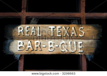 A Rustic Texas Barbeque Sign