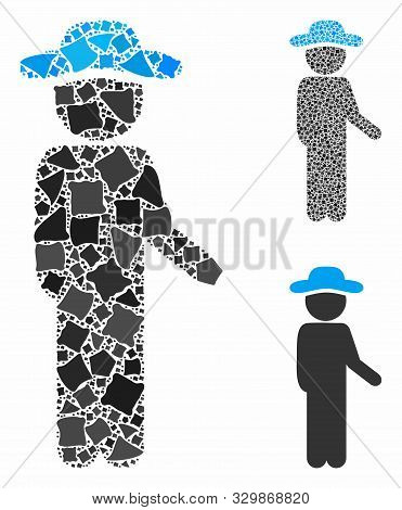 Gentleman Idler Mosaic Of Joggly Pieces In Variable Sizes And Color Hues, Based On Gentleman Idler I