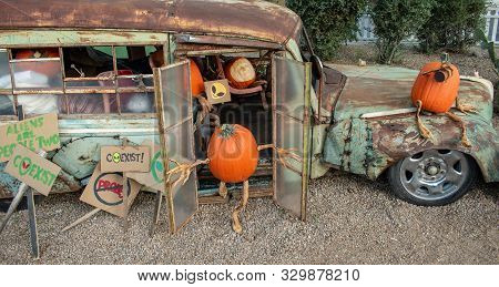 Bus Load Of Pumpkins Heading To An Alien Crash Site