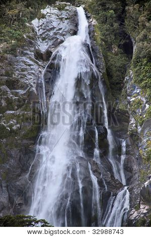 Water Fall In The Milford Sound