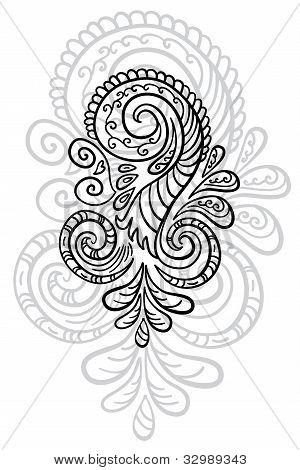 Beautiful abstract scroll pattern.