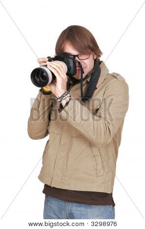 Photojournalist Guy With Camera
