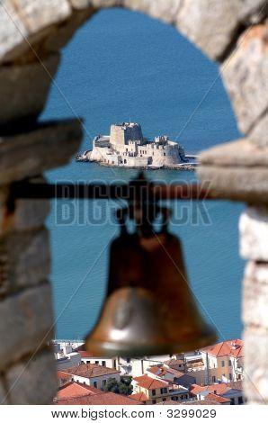 Nafplio Palamidi Fortress View Of Bourtzi Castle