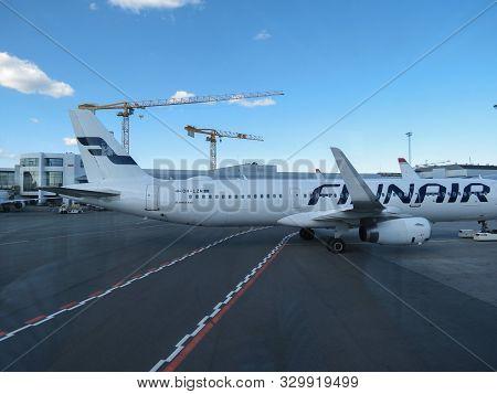 Copenhagen, Denmark - Circa July 2019: Finnair Airbus A321 Taxiing