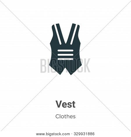 Vest Vector Icon On White Background. Flat Vector Vest Icon Symbol Sign From Modern Clothes Collecti
