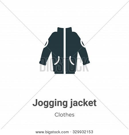 Jogging jacket icon isolated on white background from clothes collection. Jogging jacket icon trendy