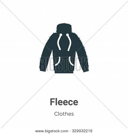 Fleece icon isolated on white background from clothes collection. Fleece icon trendy and modern Flee