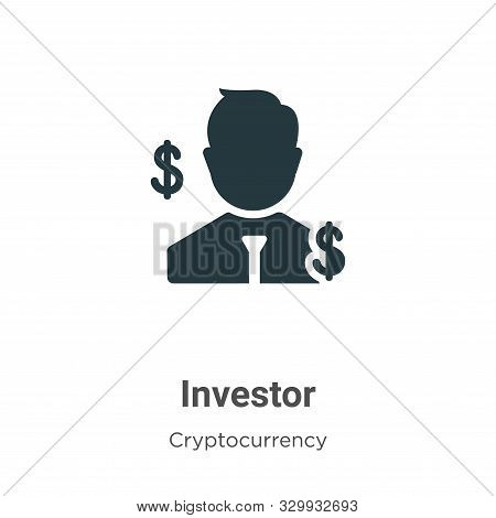 Investor icon isolated on white background from cryptocurrency collection. Investor icon trendy and