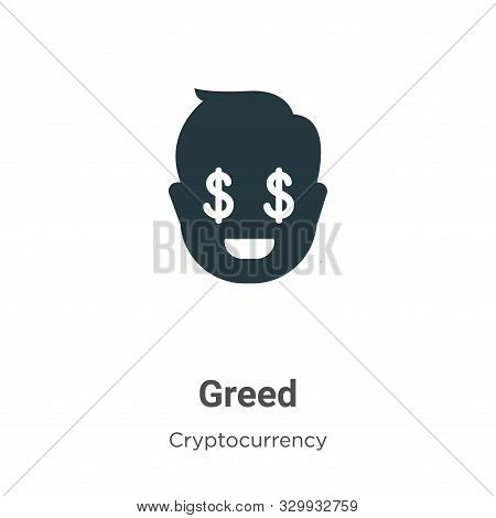 Greed icon isolated on white background from cryptocurrency collection. Greed icon trendy and modern