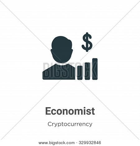 Economist icon isolated on white background from cryptocurrency collection. Economist icon trendy an