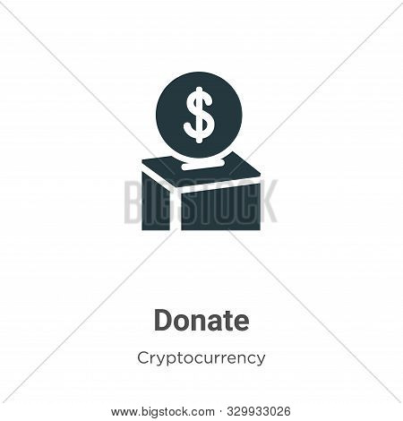 Donate icon isolated on white background from cryptocurrency collection. Donate icon trendy and mode