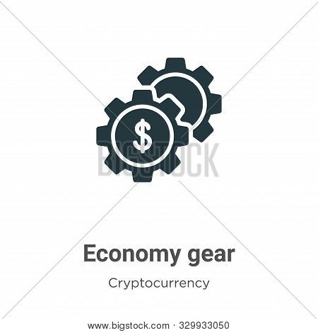 Economy gear icon isolated on white background from cryptocurrency collection. Economy gear icon tre