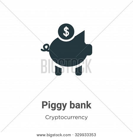 Piggy bank icon isolated on white background from cryptocurrency collection. Piggy bank icon trendy