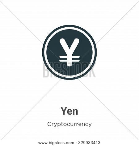 Yen icon isolated on white background from cryptocurrency collection. Yen icon trendy and modern Yen