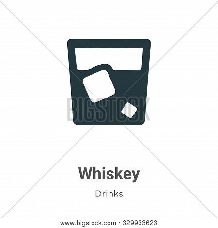 Whiskey icon isolated on white background from drinks collection. Whiskey icon trendy and modern Whi