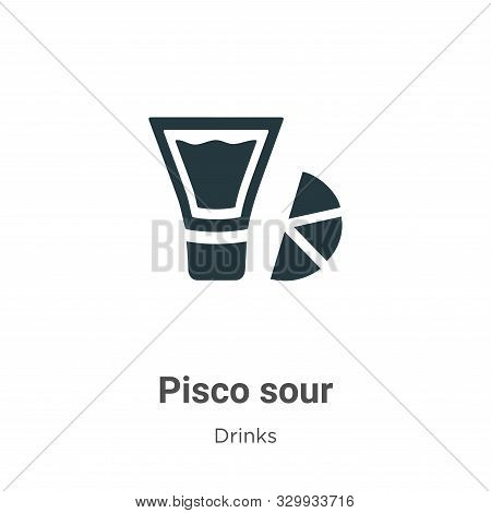Pisco sour icon isolated on white background from drinks collection. Pisco sour icon trendy and mode