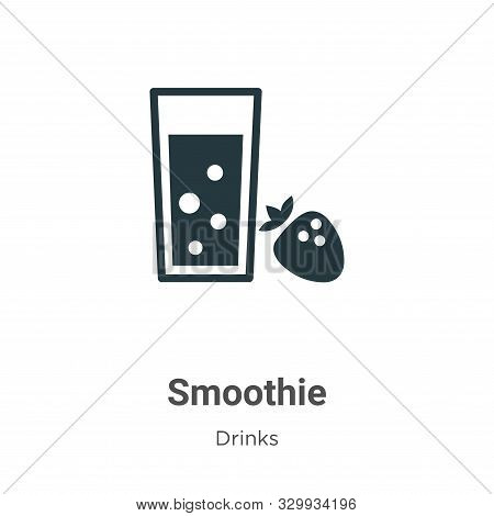 Smoothie Vector Icon On White Background. Flat Vector Smoothie Icon Symbol Sign From Modern Drinks C
