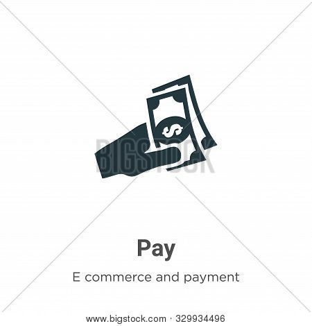 Pay icon isolated on white background from e commerce and payment collection. Pay icon trendy and mo