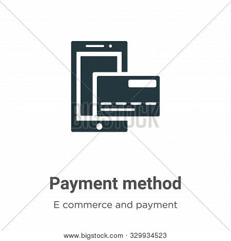 Payment method icon isolated on white background from e commerce and payment collection. Payment met