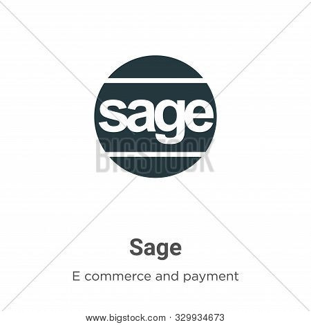 Sage icon isolated on white background from e commerce and payment collection. Sage icon trendy and