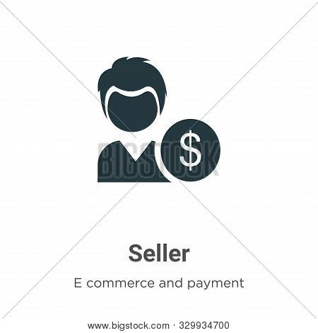 Seller icon isolated on white background from e commerce and payment collection. Seller icon trendy