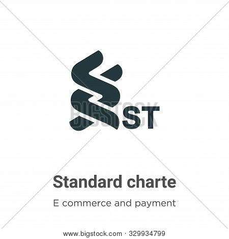 Standard Chartered Vector Icon On White Background. Flat Vector Standard Chartered Icon Symbol Sign