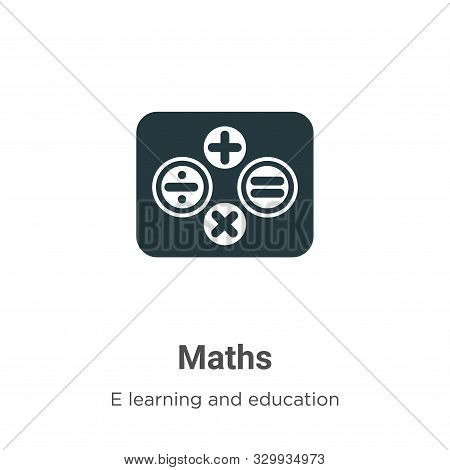 Maths icon isolated on white background from e learning and education collection. Maths icon trendy