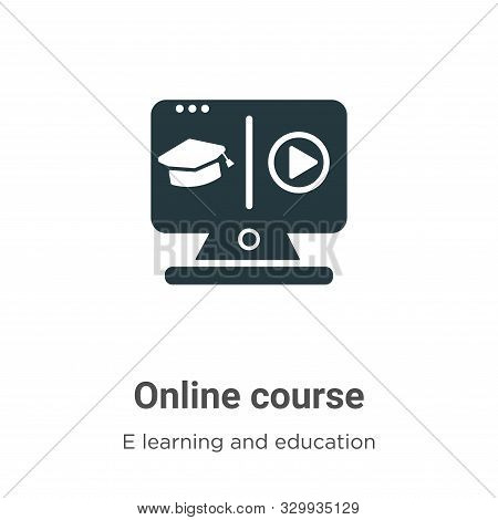 Online course icon isolated on white background from e learning and education collection. Online cou