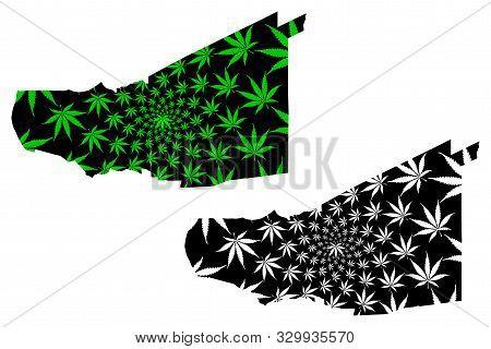 Pathum Thani Province (kingdom Of Thailand, Siam, Provinces Of Thailand) Map Is Designed Cannabis Le