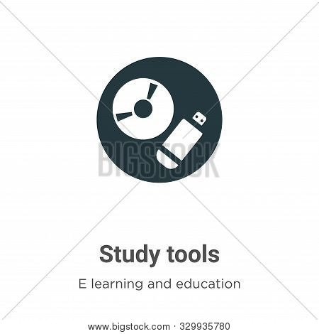 Study tools icon isolated on white background from e learning and education collection. Study tools