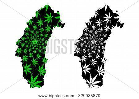 Phetchabun Province (kingdom Of Thailand, Siam, Provinces Of Thailand) Map Is Designed Cannabis Leaf