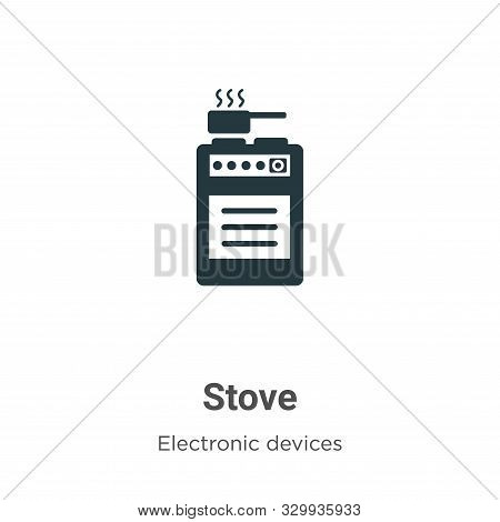 Stove icon isolated on white background from electronic devices collection. Stove icon trendy and mo