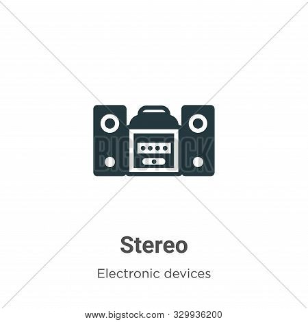 Stereo icon isolated on white background from electronic devices collection. Stereo icon trendy and