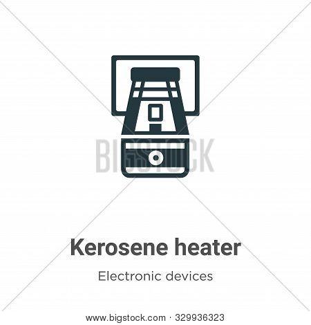 Kerosene heater icon isolated on white background from electronic devices collection. Kerosene heate