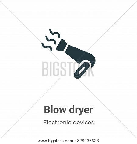 Blow dryer icon isolated on white background from electronic devices collection. Blow dryer icon tre