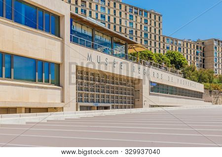 Marseille France. June 22 2019. A View Of Museum Regards Of Provence, In Marseille In France
