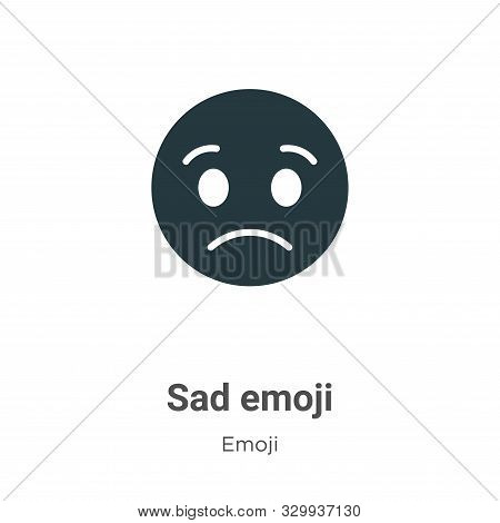 Sad emoji icon isolated on white background from emoji collection. Sad emoji icon trendy and modern