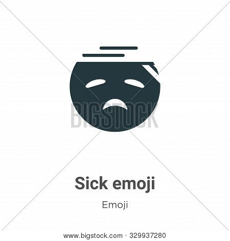 Sick emoji icon isolated on white background from emoji collection. Sick emoji icon trendy and moder