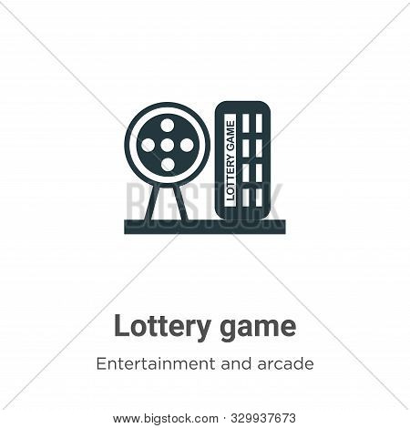 Lottery game icon isolated on white background from entertainment and arcade collection. Lottery gam