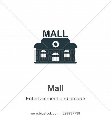 Mall icon isolated on white background from entertainment and arcade collection. Mall icon trendy an