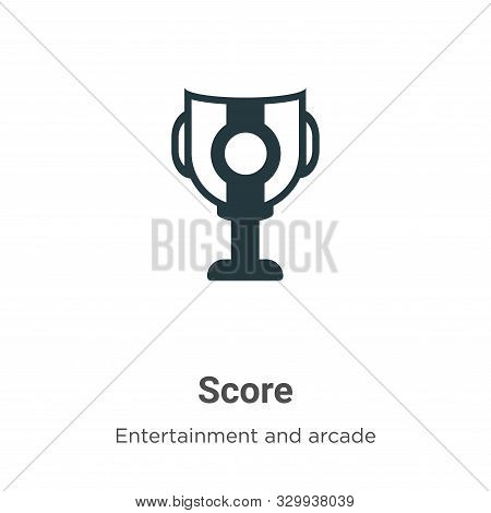 Score icon isolated on white background from entertainment and arcade collection. Score icon trendy