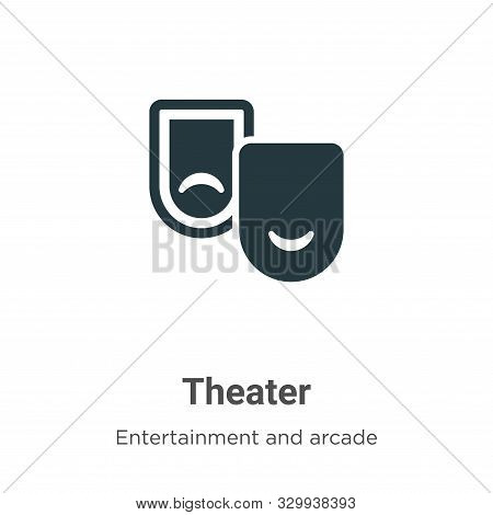 Theater icon isolated on white background from entertainment and arcade collection. Theater icon tre