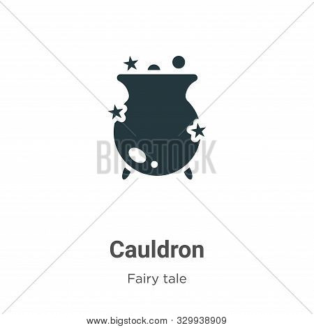 Cauldron icon isolated on white background from fairy tale collection. Cauldron icon trendy and mode