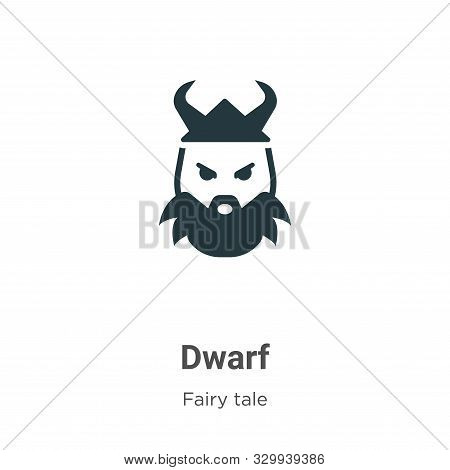 Dwarf icon isolated on white background from fairy tale collection. Dwarf icon trendy and modern Dwa