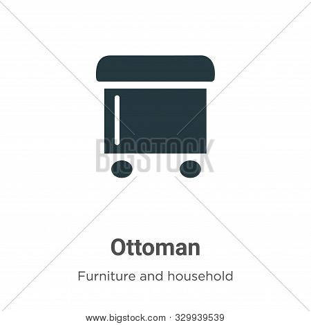 Ottoman Vector Icon On White Background. Flat Vector Ottoman Icon Symbol Sign From Modern Furniture